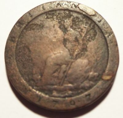 George Cart Wheel Penny 1797 Britannia Fair Condition -  See Pictures