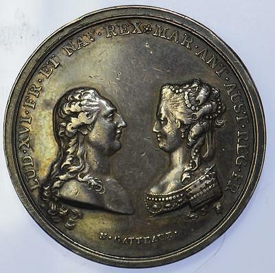 France - 1781 Louis XVI and Marie Antoinette Birth of the Dauphin silver medal