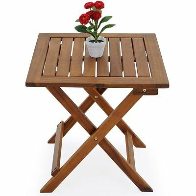 Foldable Wooden Table Small Bistro Garden Patio Balcony Coffee Snack Furniture