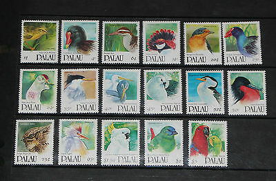 PALAU 1991 Bird Stamps SG412/428 unmounted mint