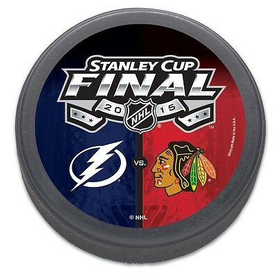 Chicago Blackhawks v Tampa Bay Lightning 2015 Stanley Cup Finals Collectors Puck