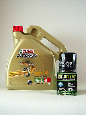 Castrol Power 1 10W40 Öl + Oil filter KAWASAKI ZX-6R Ninja Bj 95-01