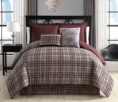 10 Piece Telluride Brown Bed in a Bag Set
