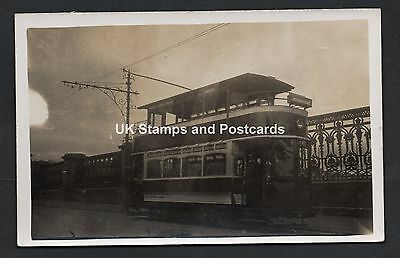 Lanarkshire Tramways Co. Tram 77 Unposted RP Card Circa 1920s? See Scan
