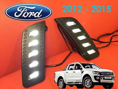 Ford Ranger Pickup 2012 - 2015 T6 Front LED DRL's - Daytime Running Lights - S2