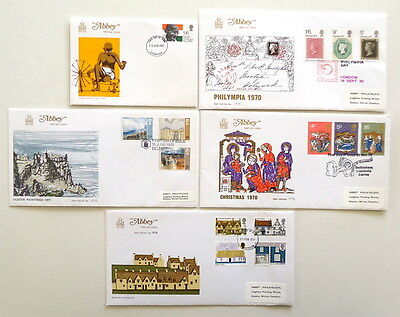 1970 GB Abbey FDC First Day Cover collection 6 covers