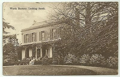 Kent postcard Worth Rectory looking South
