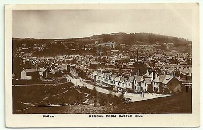 Cumbria postcard Kendal from Castle Hill