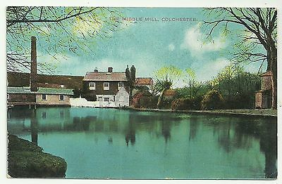 Essex postcard Colchester The Middle Mill