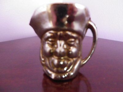 SUPERB VINTAGE PLATED METAL TOBY JUG MADE IN ENGLAND 5.5 cms tall inV.G.U.C.
