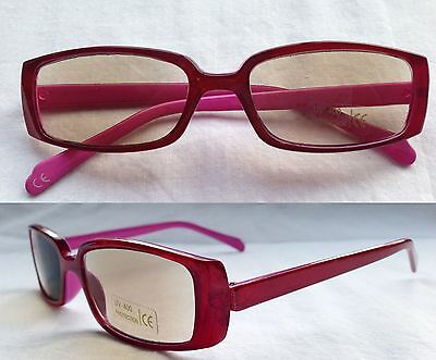 +3 PINK Plastic Frame Tinted Reading Glasses +3.00 Ready Readers Sunglasses +3.0