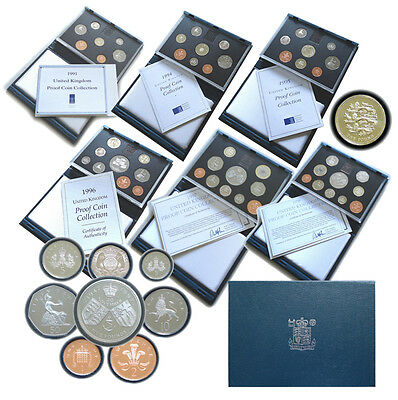 1983 to 1999 UK GB Proof Coin Year Set Royal Mint  Multi Listing