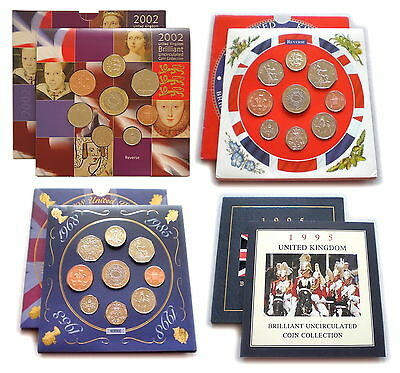 1982 to 2008 GB UK Brilliant Uncirculated Coin Year Set Royal Mint *Multi List*