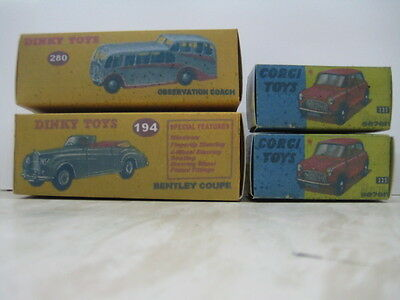 4 Repro Boxes for Dinky and Corgi