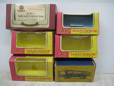 5  Matchbox Yesteryear Boxes and one Oxford Limited Edition box.