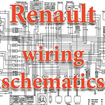 Renault Wiring Diagrams Schematics Electric 3 Dvd