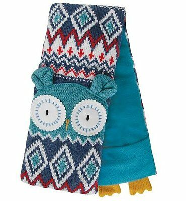 Aroma Home KNITTED ANIMAL Microwavable Neck Warmer BODY WRAP - OWL Scented Blue