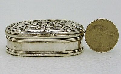 OTTOMAN Turkish Sterling Silver Snuff Box Marked with Tugra Hand Hammered