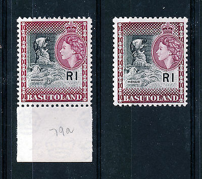BASUTOLAND 1961-1963 DEFINITIVES SG79a  (shade) MNH