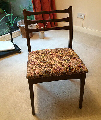 A Pair Of Original Mid-Century Modern Teak Dining Chairs Very Good Condition