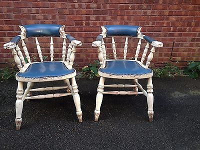 2 vintage smokers bow chairs