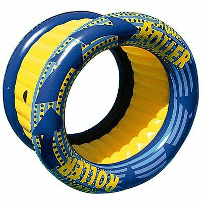 Aquafun Aqua Roller -  GIANT Inflatable Spinning Pool Toy Game, Lounge, Rocker