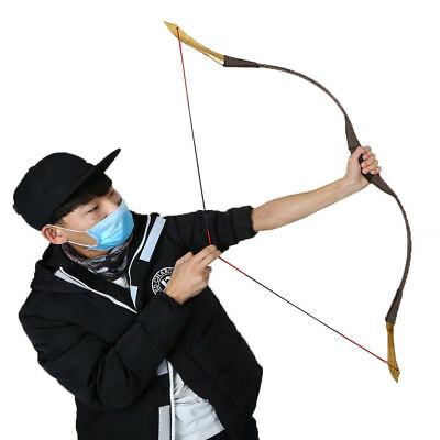 30 LB 125cm Handmade Traditional Longbow Recurve Bow For Horse Archery Practice