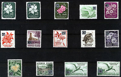 NORFOLK ISLAND 1966 DEFINITIVES SG60a/71a MNH