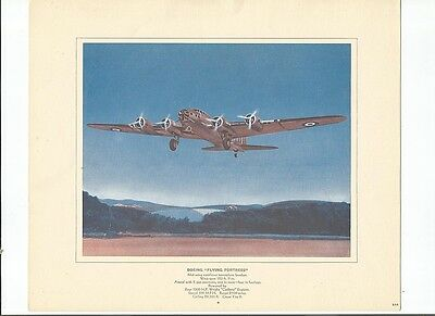 World War Ii Boeing Flying Fortress Bomber Issued 1940's By Canada Starch Co