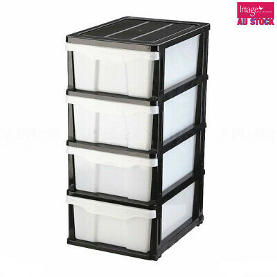 3 Tier Plastic Drawer Cabinet Storage Organizer Office Box Shelves Home 542263BW