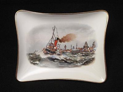 Crown Staffordshire British Marine Insurance Company Gateway To Liverpool Dish