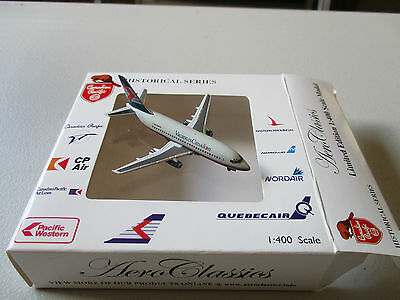 """AeroClassics  Canadian Airlines  with """"Canadian Holidays""""  737-275A   1:400"""