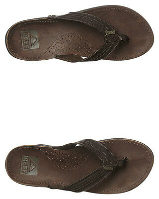 New Reef Men's J Bay Iii Thong Rubber Mens Shoes Brown