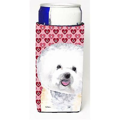 Bichon Frise Hearts Love and Valentines Day Portrait Michelob Ultra bottle sl...