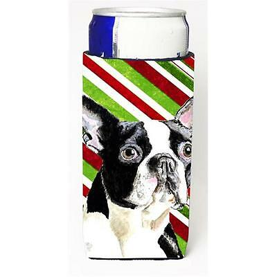 Boston Terrier Candy Cane Holiday Christmas Michelob Ultra bottle sleeves For...