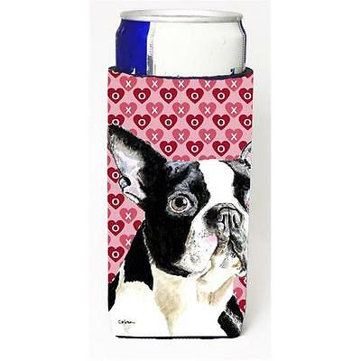 Boston Terrier Hearts Love Valentines Day Michelob Ultra bottle sleeves for s...