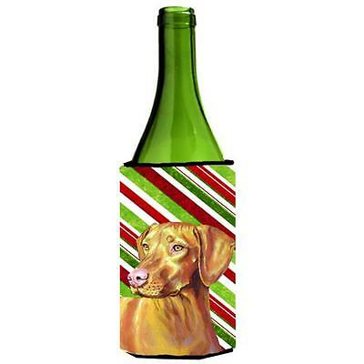 Vizsla Candy Cane Holiday Christmas Wine bottle sleeve Hugger 24 oz.