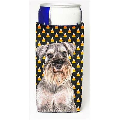 Candy Corn Halloween Schnauzer Michelob Ultra bottle sleeves for slim cans