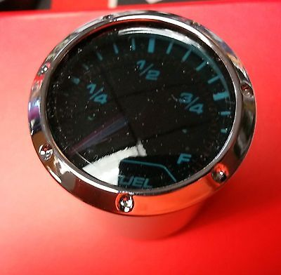 Fuel Level Gauge With Chrome Bezel Easy Read Bright Black Face  New In Box 5712