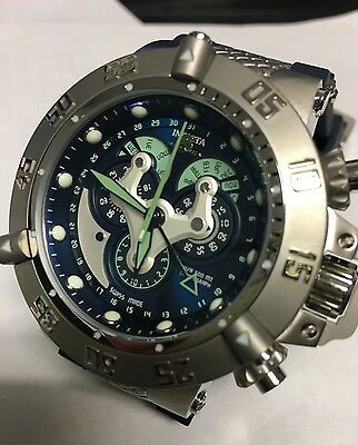 New Men's Invicta 18522 SWISS MADE Chronograph Green Dial Watch