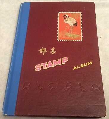 Vintage Stamp Album (Made In China) & Approx 350 British Stamps.            (30)