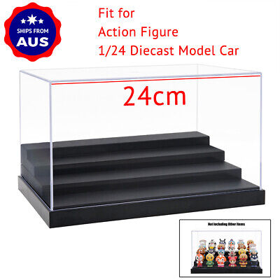 AU Clear Acrylic Display Case 4 Steps Plastic Base Box Dustproof Protection New