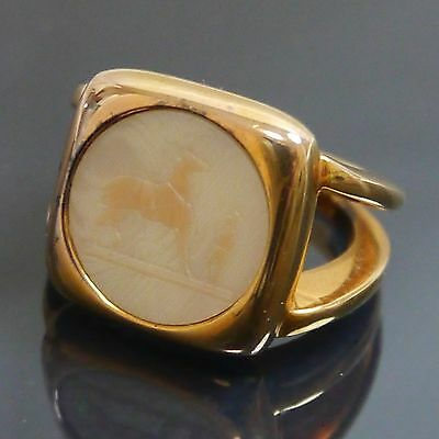 Authentic Hermes Ring gold used 54 (EI1806