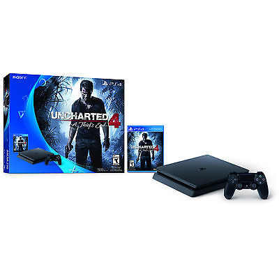 NEW Sony Playstation 4 Slim Uncharted 4: A Thief's End Bundle Console PS4 Slim