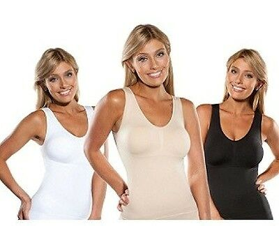 Cami Body Shaper By Genie Bra ShapeWear Tank Top Slimming Camisole Camishaper