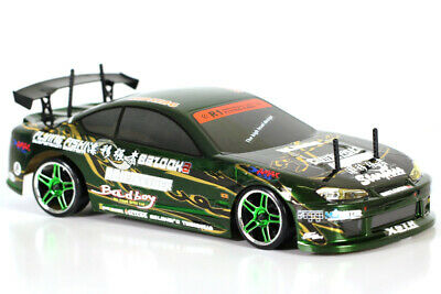 1/10 Scale 200sx 2.4ghz Radio Control RC Brushless Electric Drift Car w/LED Ligh