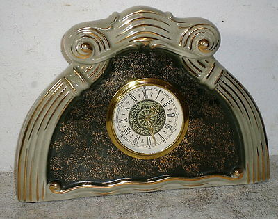Unusual Arch Top Porcelain Clock With Mechanical Back Winding Movement