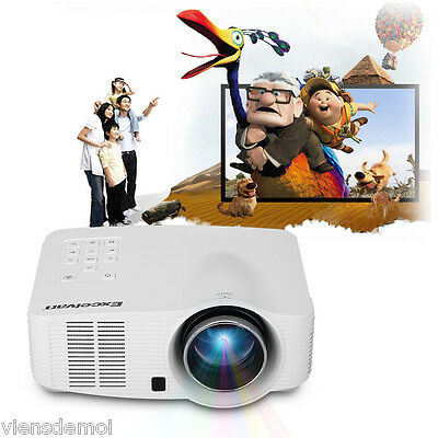 Mini HD 1080P 800x480 1200LM LED Projector Home Theater AV IN/SD/USB/VGA/HDMI AU