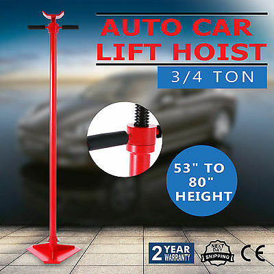 """3/4 Ton Auto Lift Car Jack Under Hoist Stand All-Steel Support Load 53""""-80"""""""