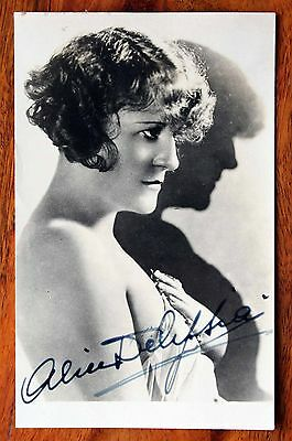 Alice Delysia French Musical Theatre Actress 1920's Hand Signed Photo